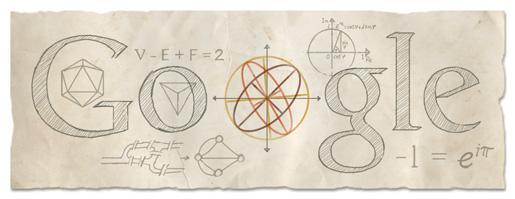 Euler, Leonhard - Google Doodle 15.04.2013