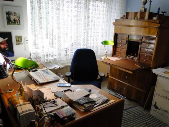 Patricia Koelles Arbeitsplatz (Privatfoto)