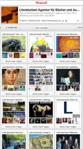 Screenshot: Pinterest Pinnwände von Literaturtest