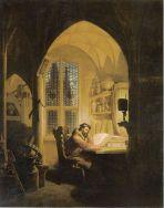 Georg Friedrich Kersting: Faust im Studierzimmer (1829)